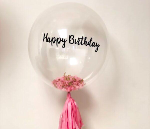 happy birthday clear balloon
