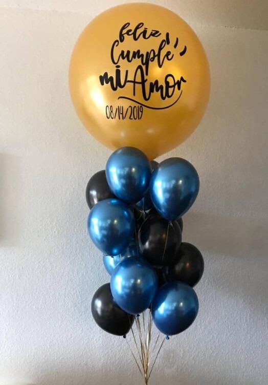 customized balloons feliz cumple miamor