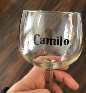 camilo glass of wine