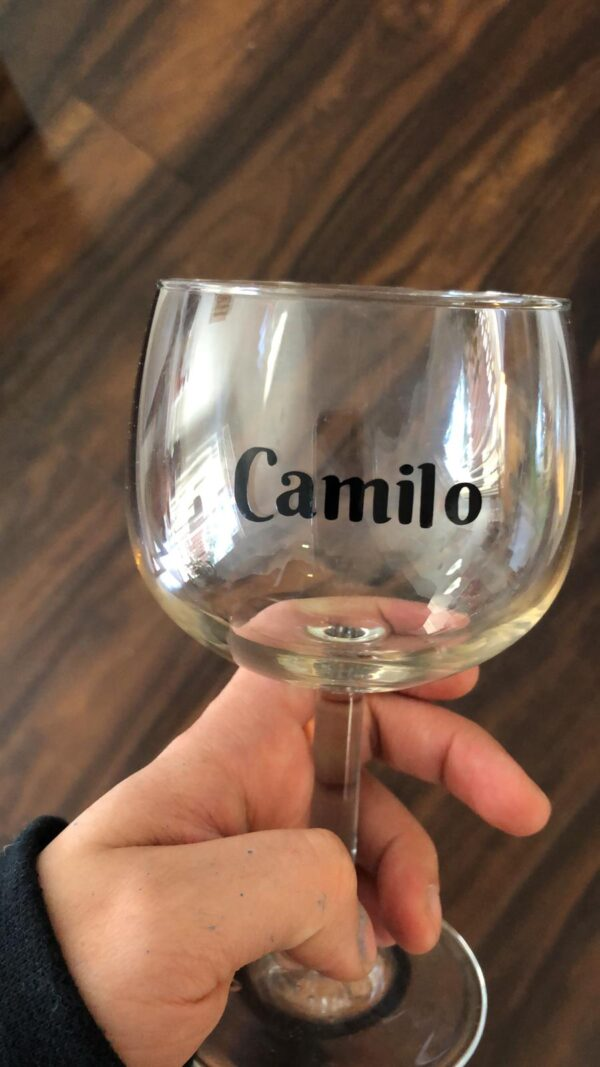 camilo glass of wine