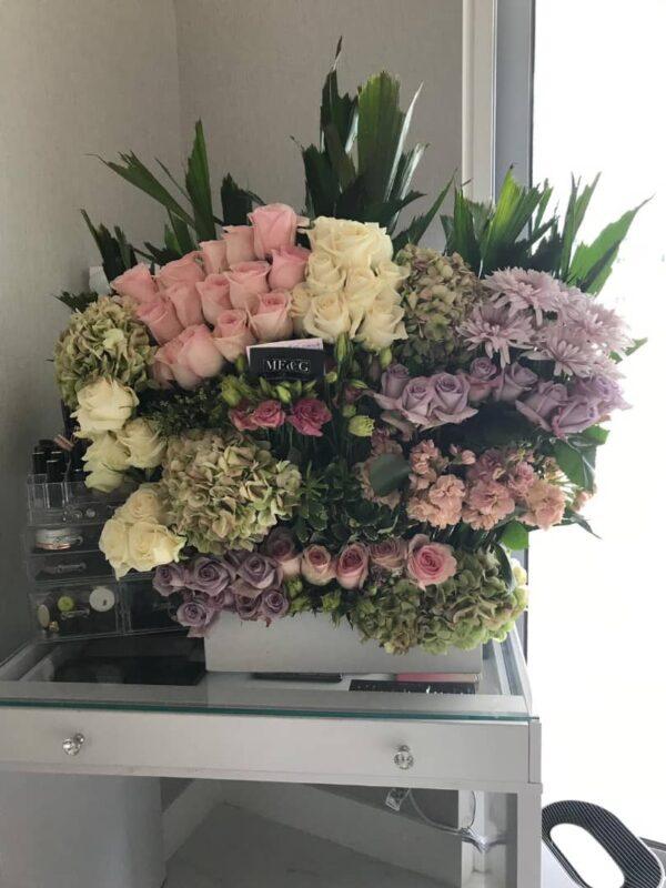 box full of flowers mf&g