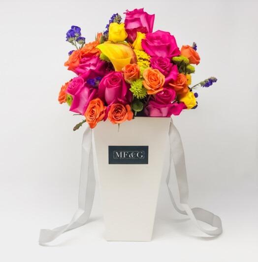 tall vases full of roses mf&G
