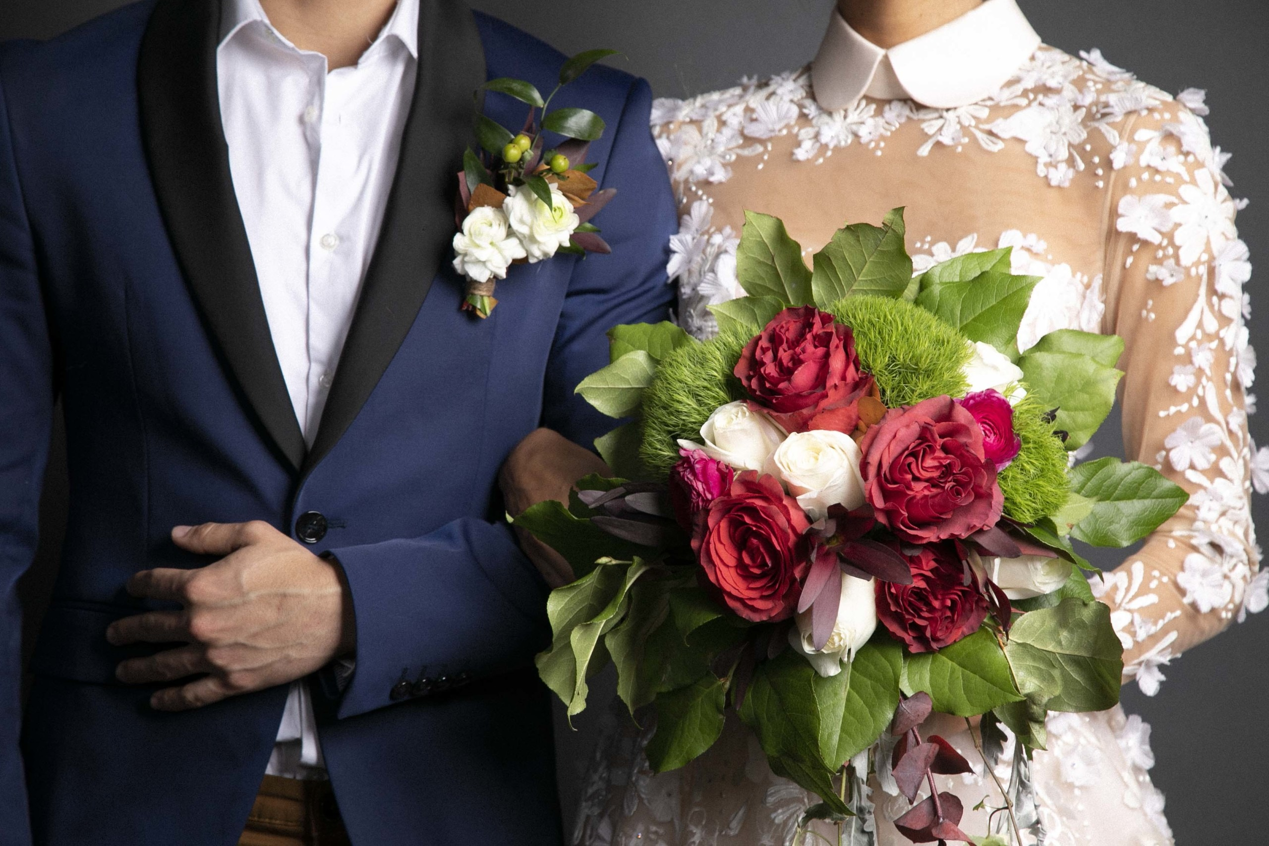 wedding with flowers