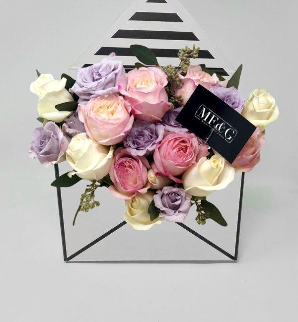 Mini Flower envelope Lovely in pink