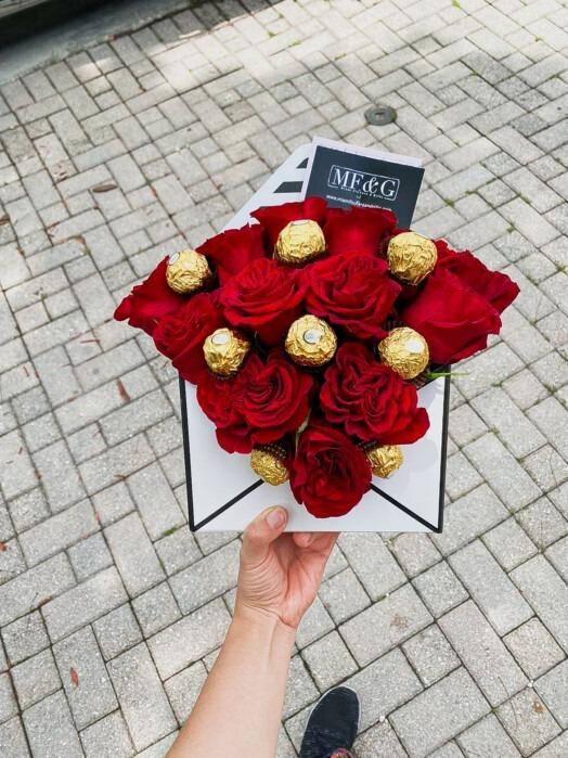 flower enveloped
