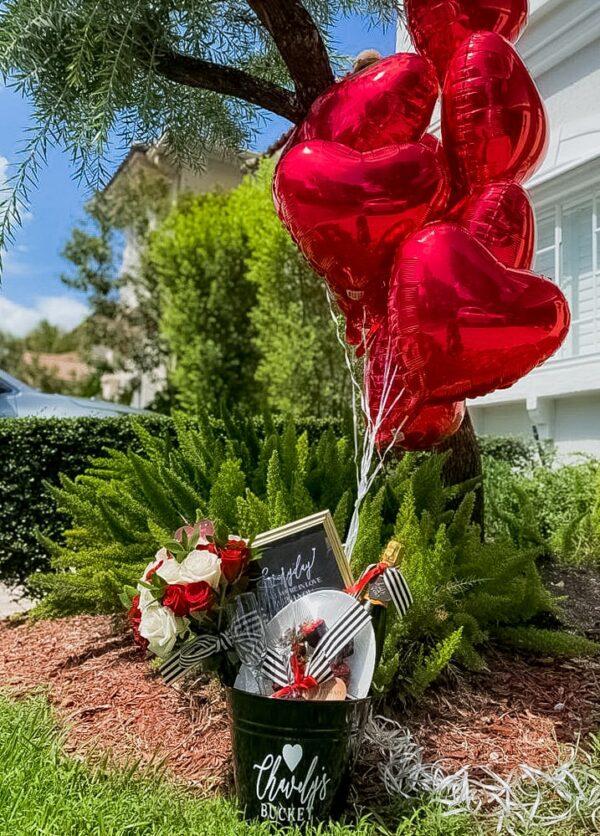 valentines balloon surprise