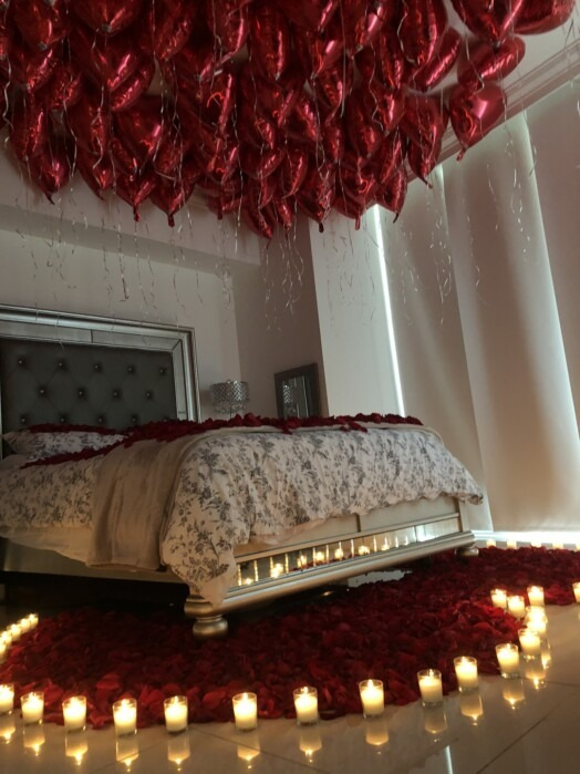 valentines day room decoration