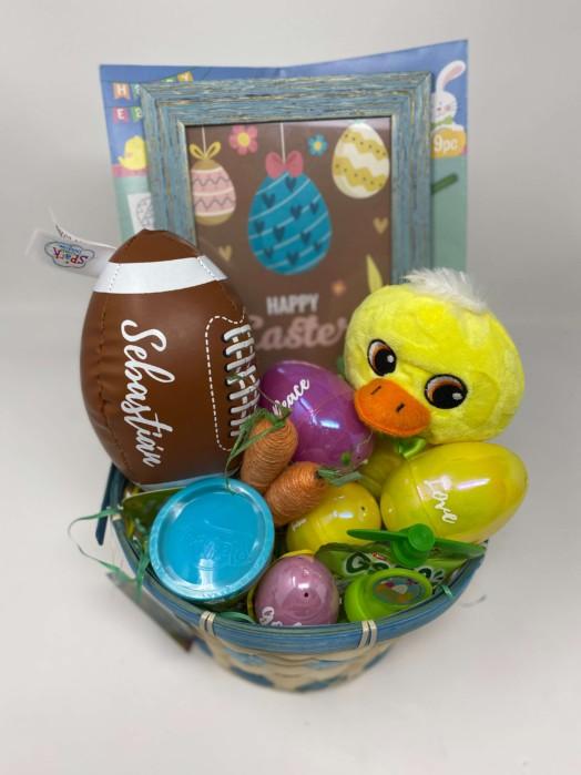 Happy Easter 2021 basket Baby duck