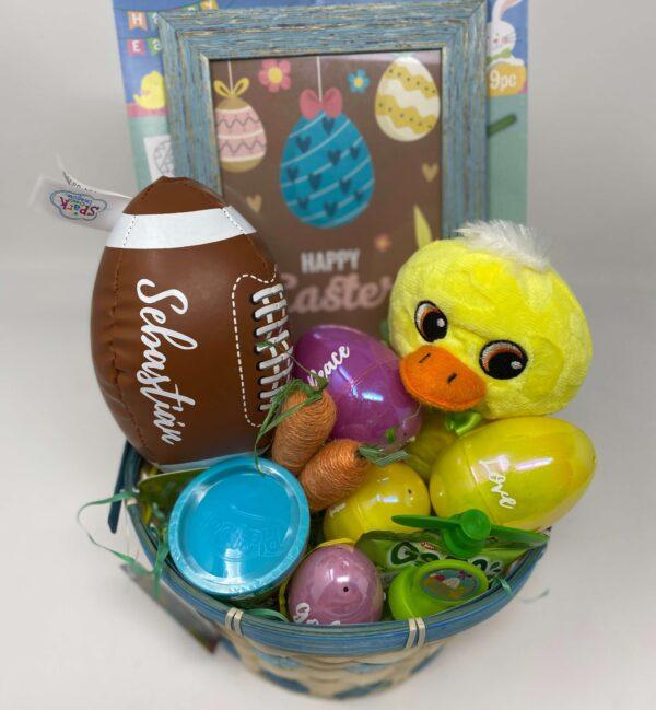 Easter basket baby duck