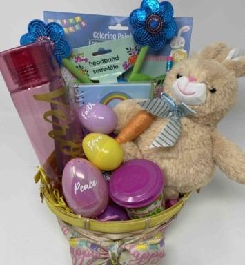 Easter basket funny bunny