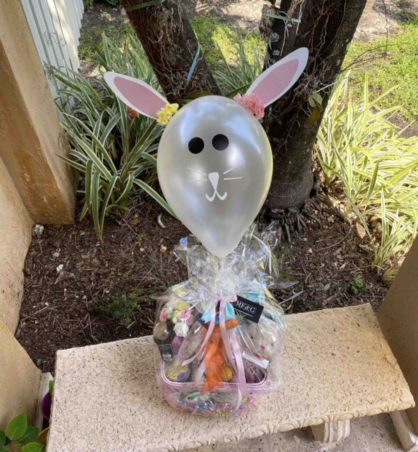 Easter basket flowery spring