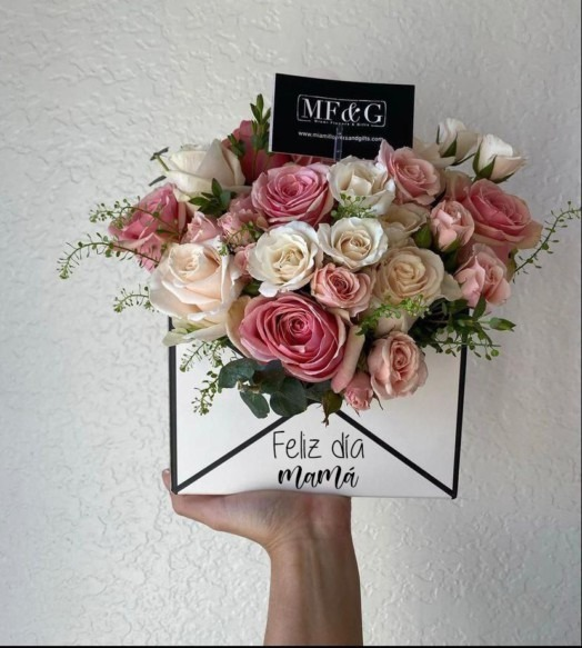 moms flower envelope - mothers day